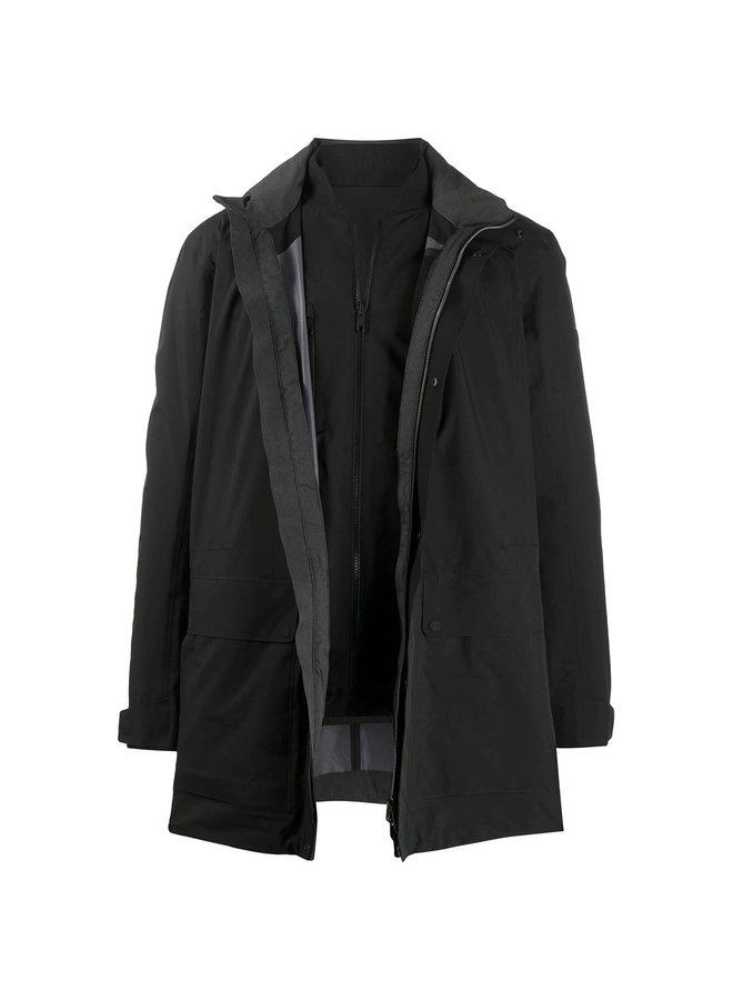 Three Piece Outwear Jacket in Black