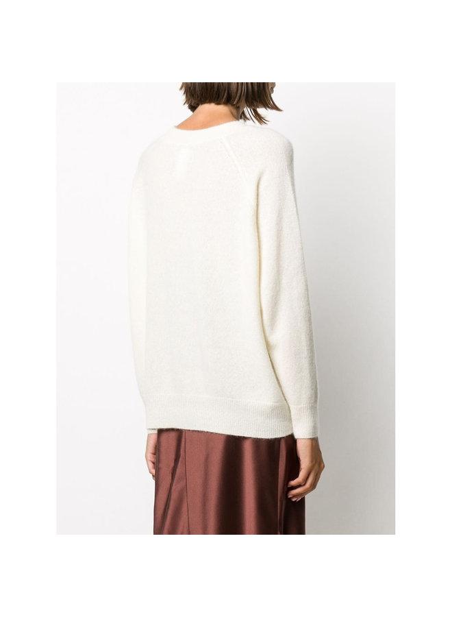 Knitwear Jumper in Fine Knit Cashmere/Silk in Ivory