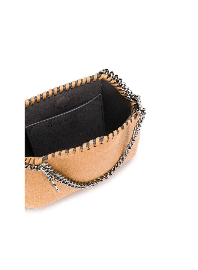 Mini 3 Chain Falabella Shoulder Bag in Camel