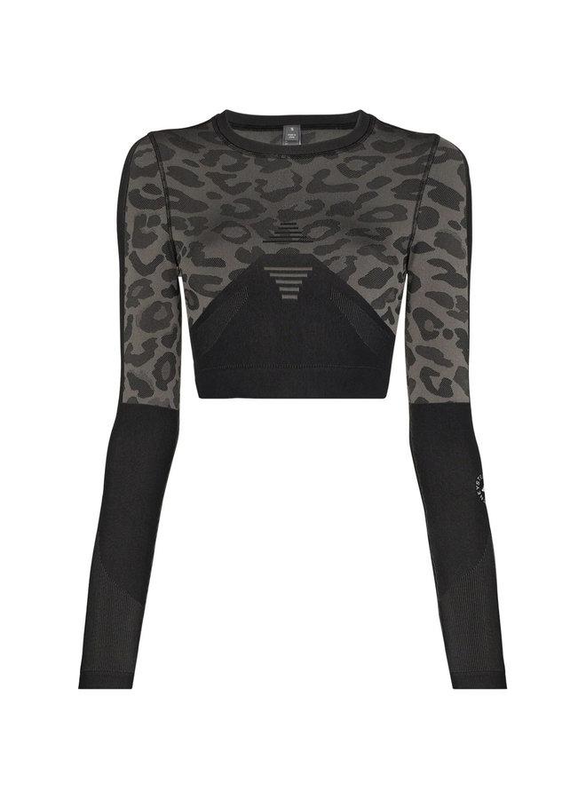 Long Sleeve Leopard Print Top