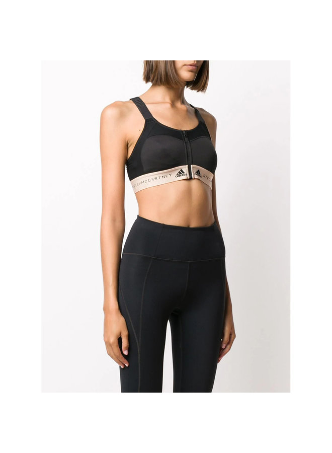 Sports Bra with Logo in Black