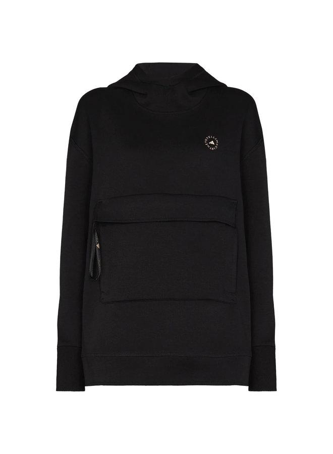 Hooded Sweatshirt with Logo in Black
