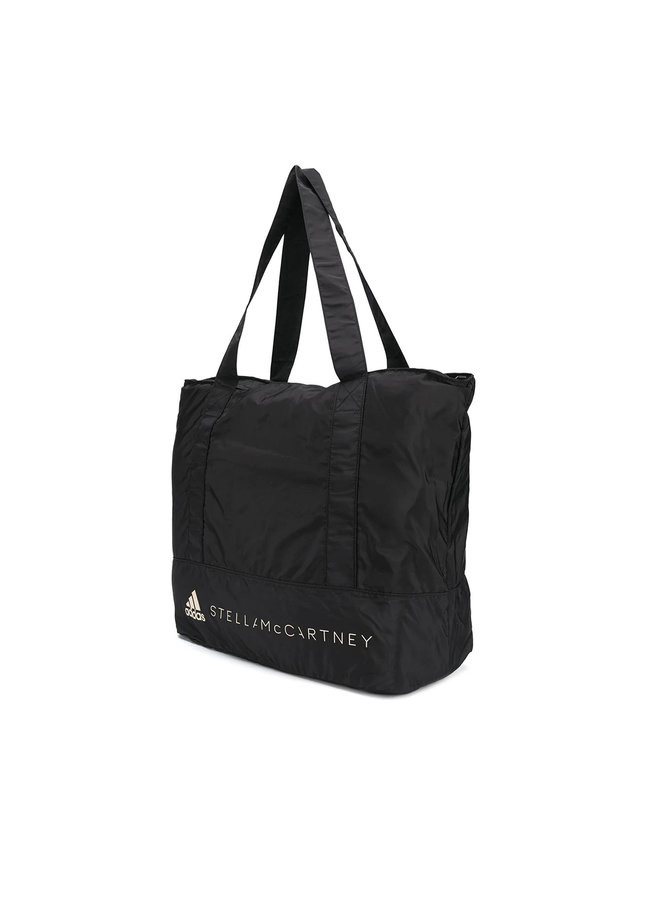 Large Shoulder Bag in Nylon in Black
