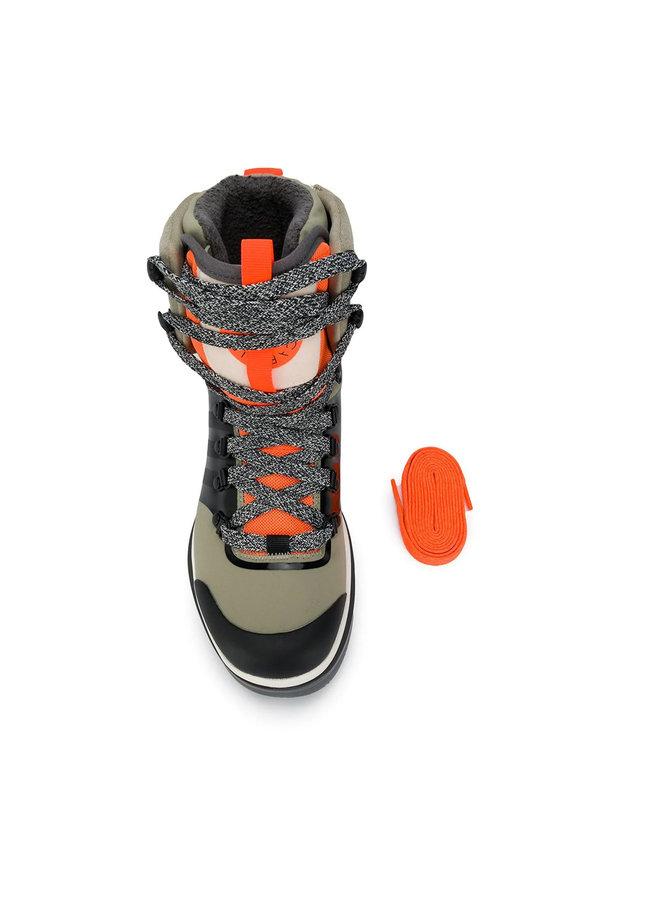 Ankle Tracker Boots in Khaki/Orange