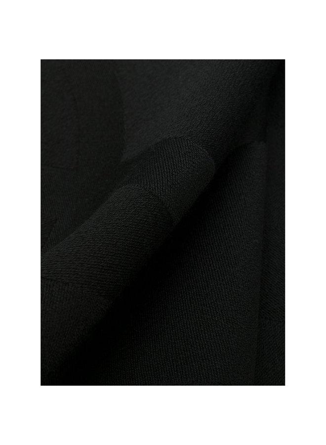 Monogram Logo Scarf in Wool in Black