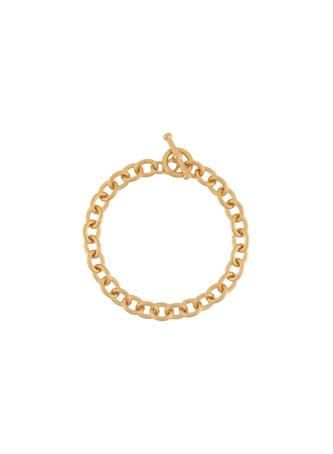 Chunky Chain Necklace in Brass in Gold