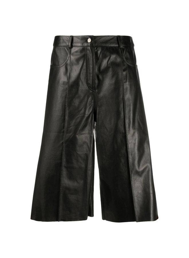 Knee Length Leather Shorts