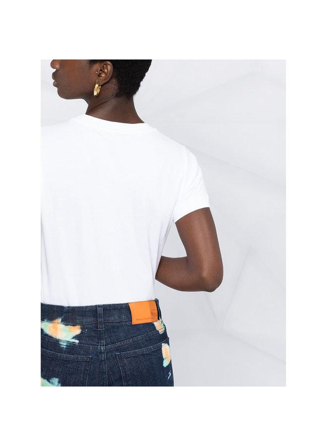 'Strange Woman' Logo T-shirt in Cotton in White