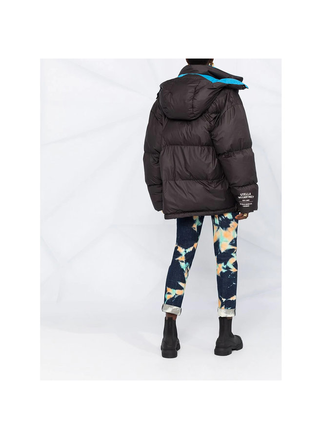 Oversize Puffer Short Jacket in Black