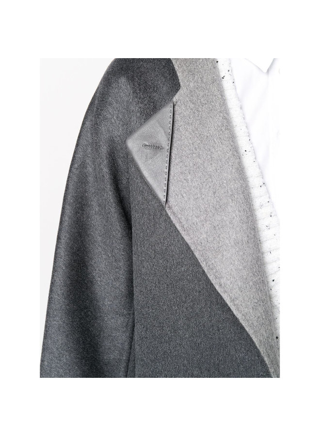 Belted Coat in Double Cashmere in Charcoal