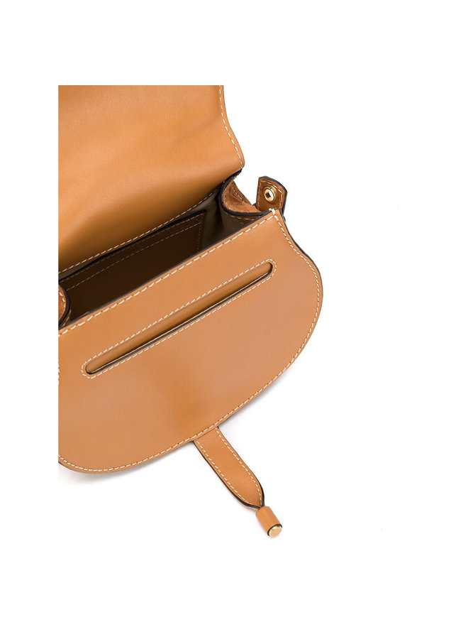 Marcie Small Crossbody Bag in Suede in Brown