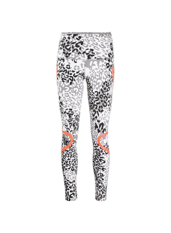 Stripe Detail Leopard Print Leggings
