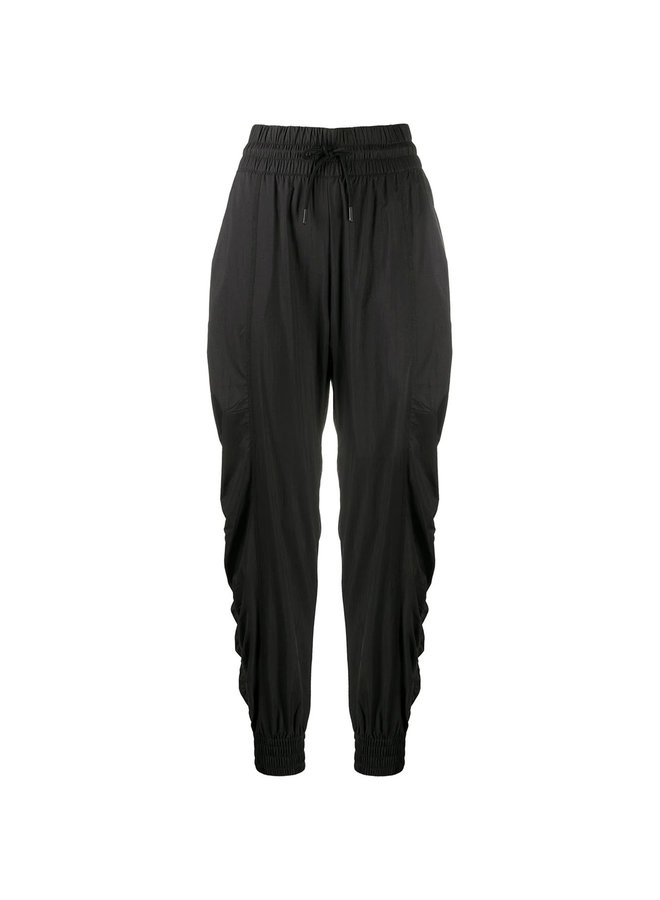 Drawstring Training Pants in Recycled Nylon in Black