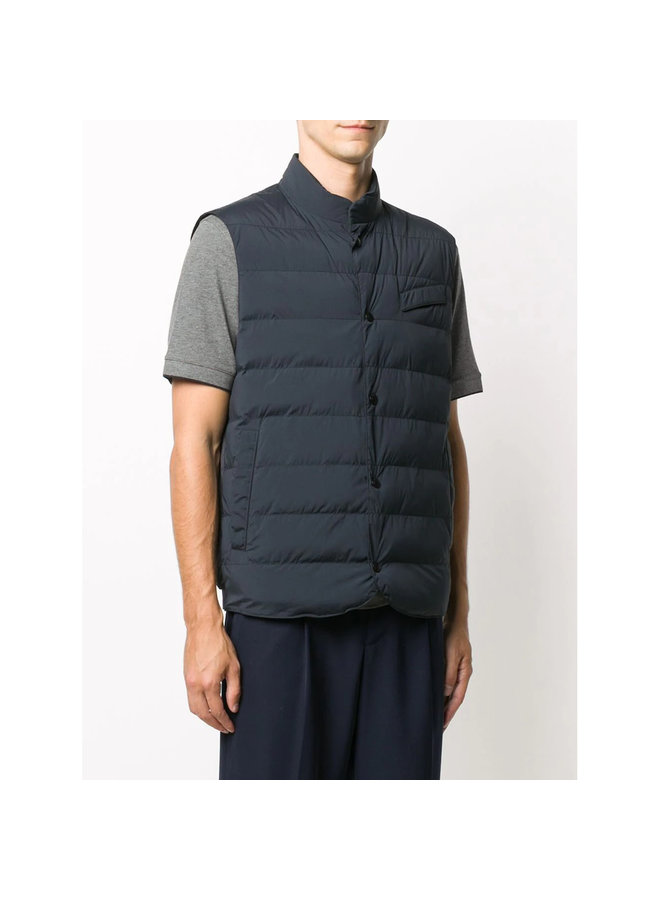 Quilted Outwear Vest in Navy