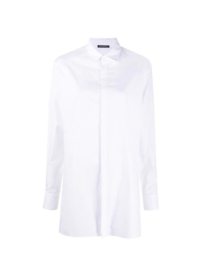 Long Sleeve Shirt in Cotton in White