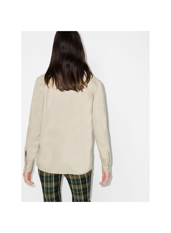 Long Sleeve Shirt in Viscose in Clay