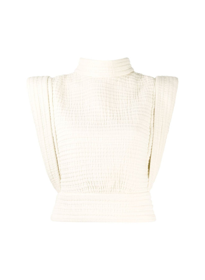 Cropped Top with Structured Shoulders
