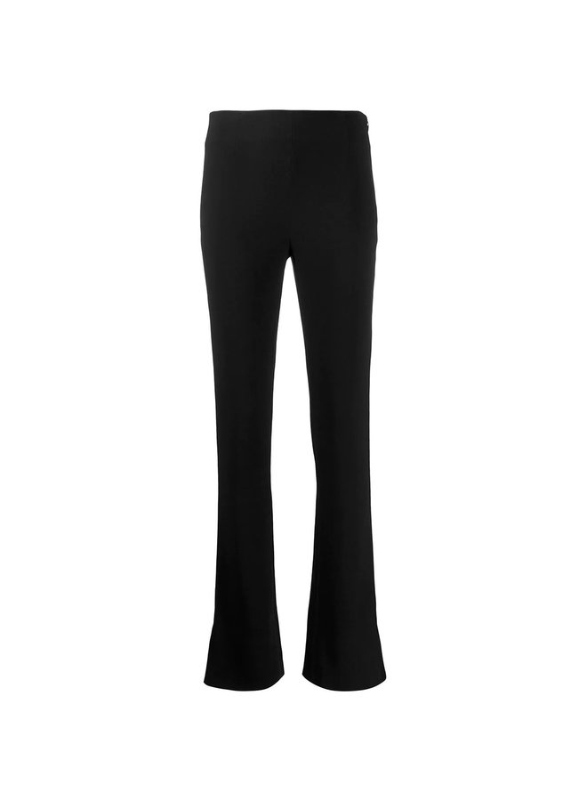 High Waisted Slim Pants in Black