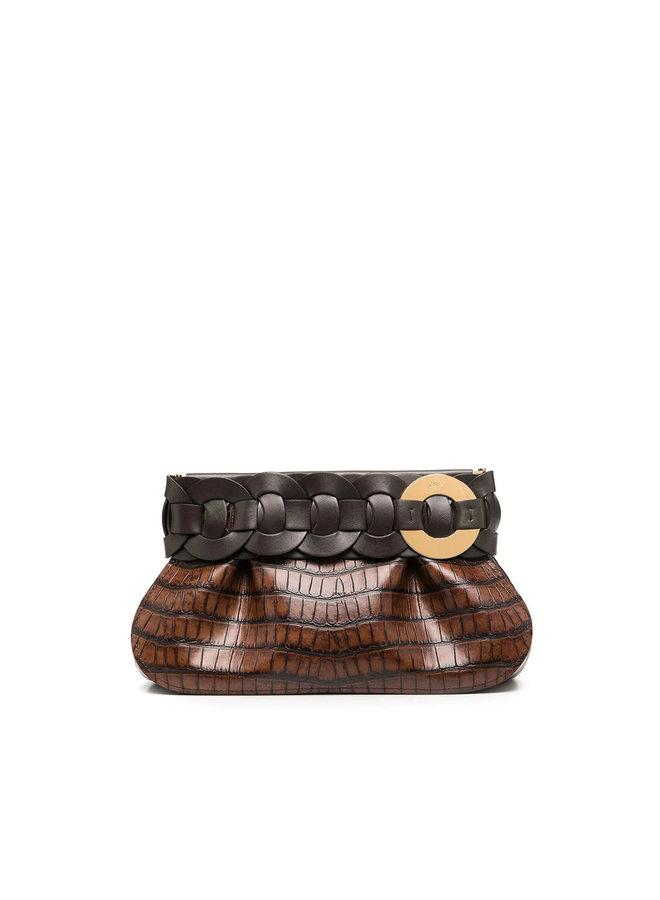 Darryl Crocodile Effect Clutch Bag