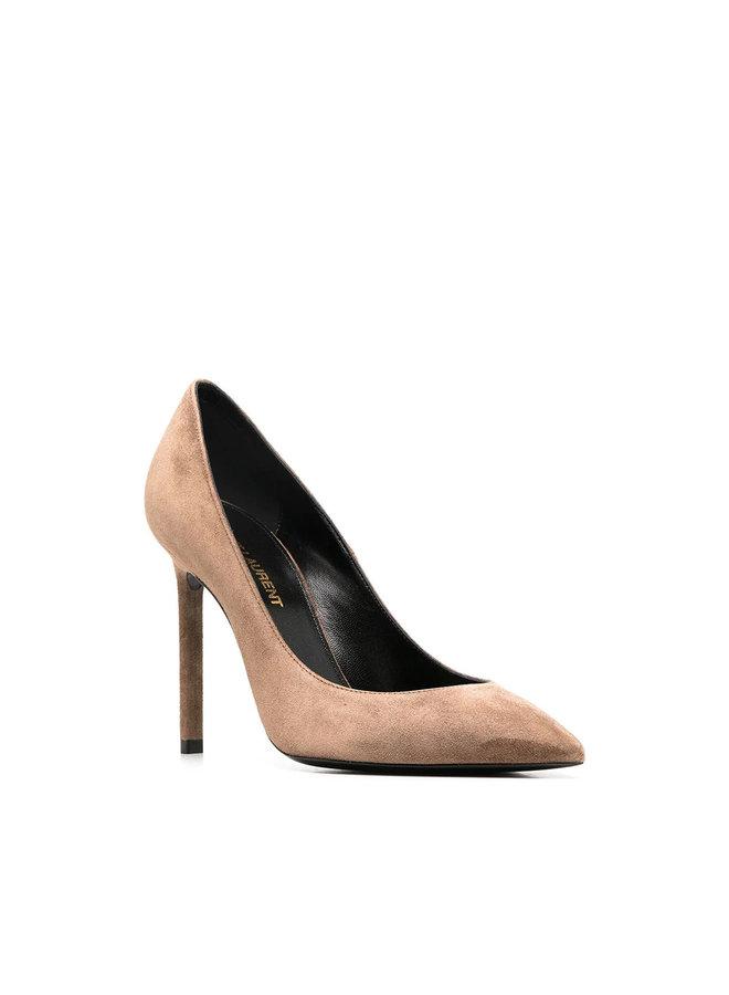 Anja High Heel Pumps in Suede in Fandango