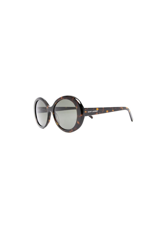 Round Frame Sunglasses in Havana Grey