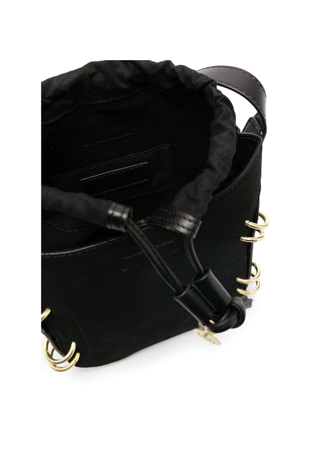 Alvy Bucket Bag in Leather in Black