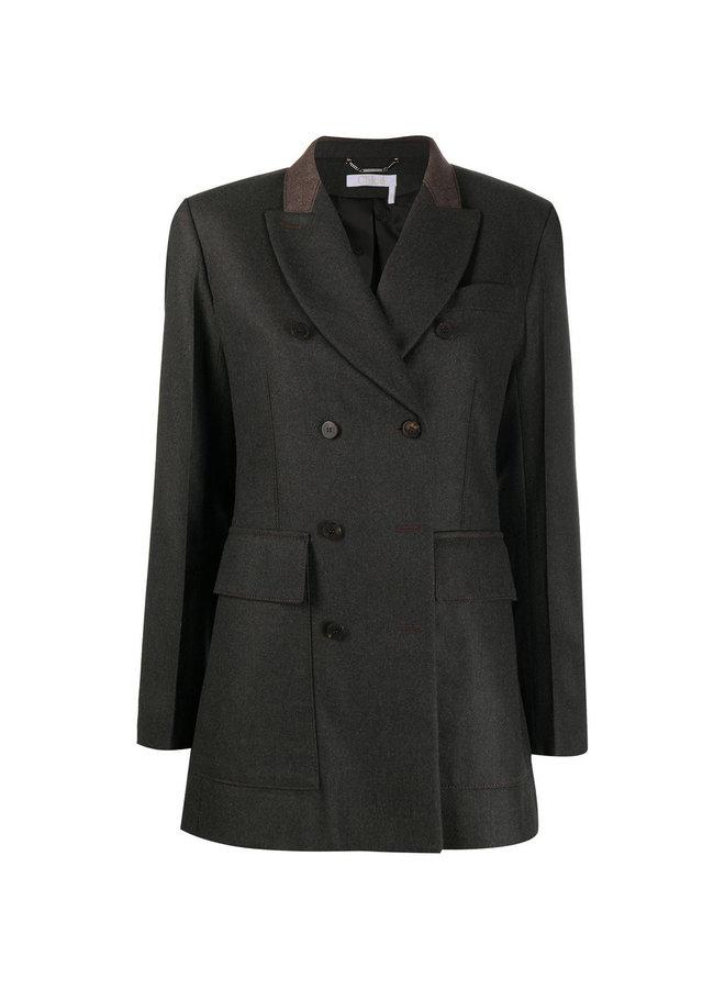 Double Breasted Cashmere Blazer Jacket