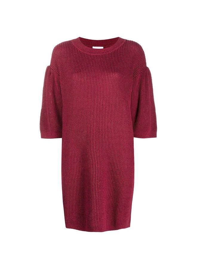 Short Sleeve Knitted Dress