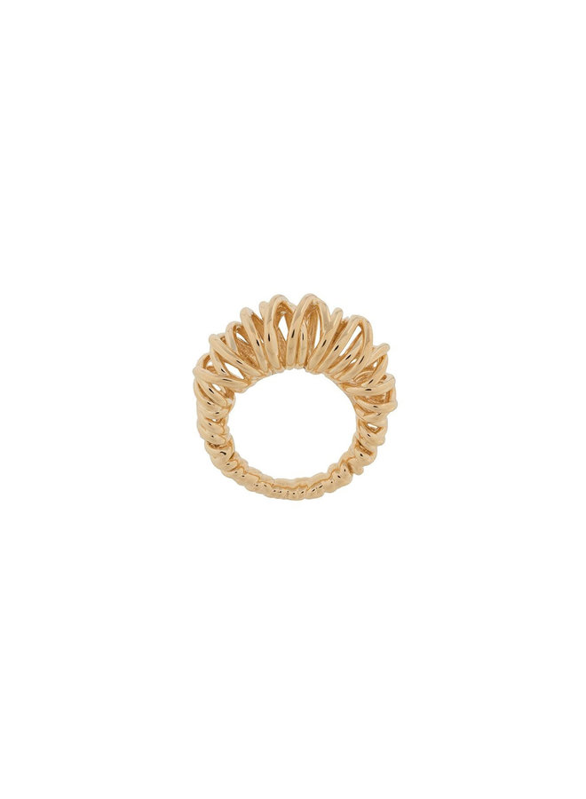 Cirles Ring in Metal in Gold