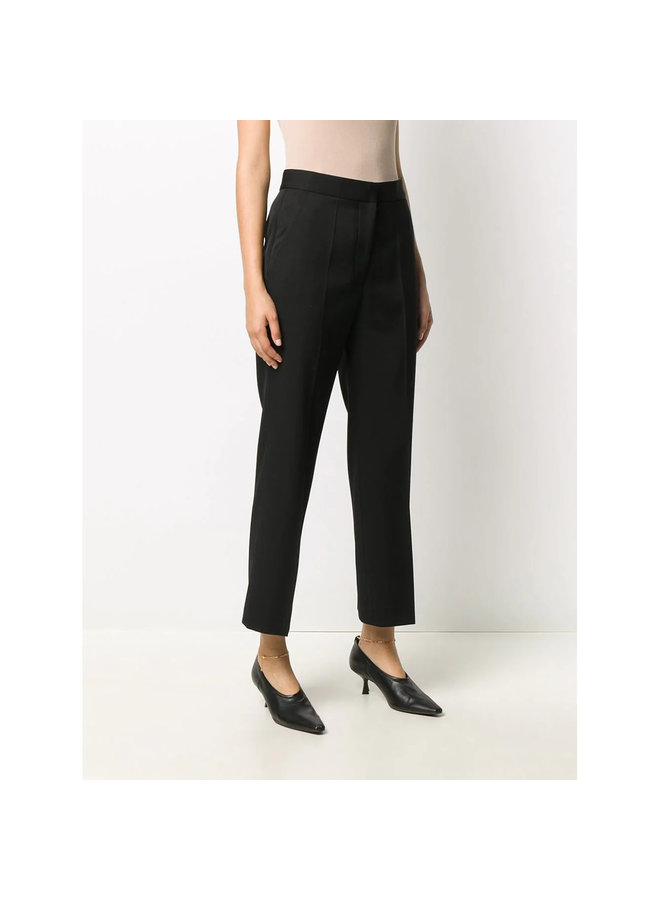 Cropped Pants in Wool in Black