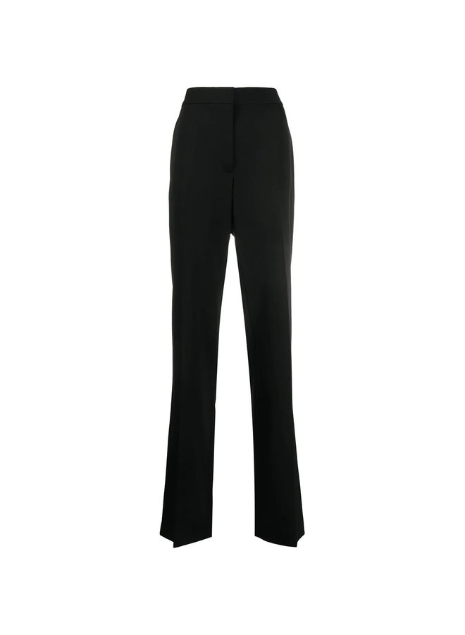 High Waisted Tailored Pants in Wool in Black