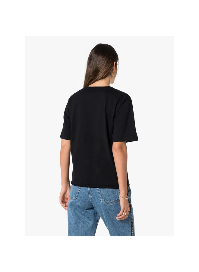Logo T-shirt in Cotton in Black