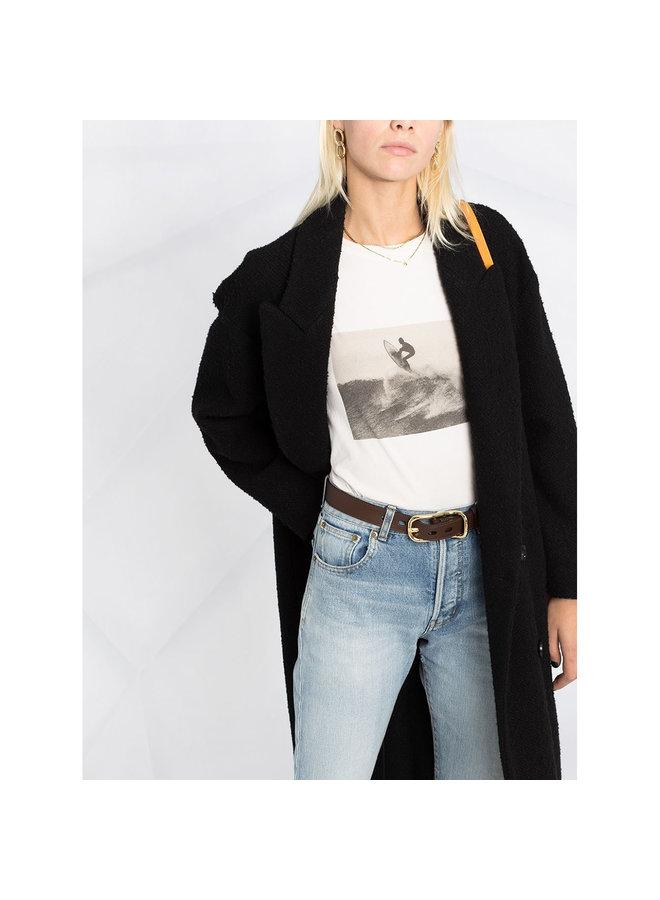 T-shirt in Graphic Print in Cotton in Ecru