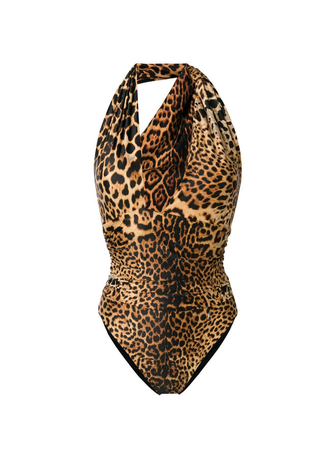 One Piece Swimsuit in Leopard Print