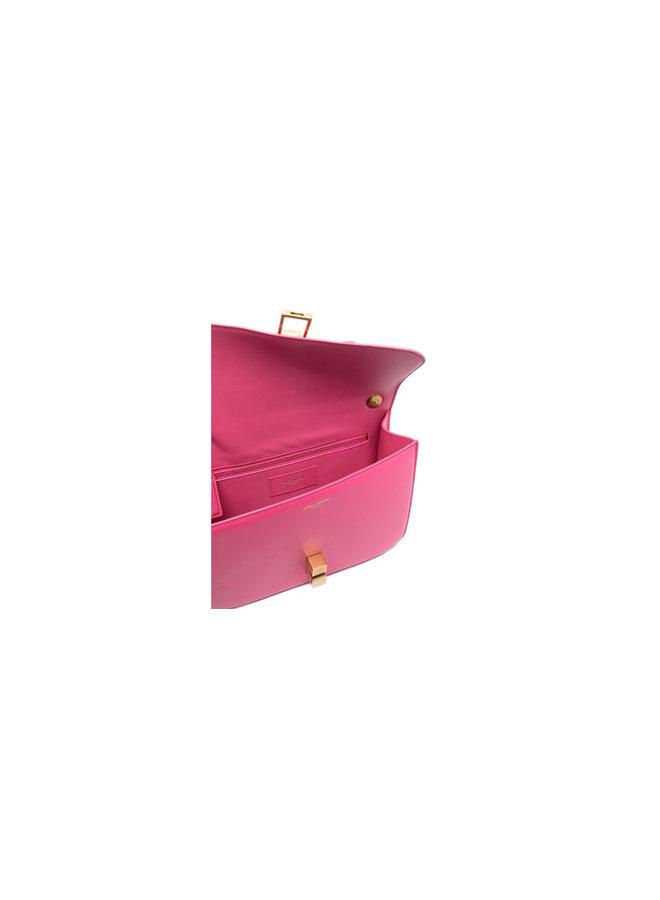 Carré Shoulder Bag in Leather in Pink