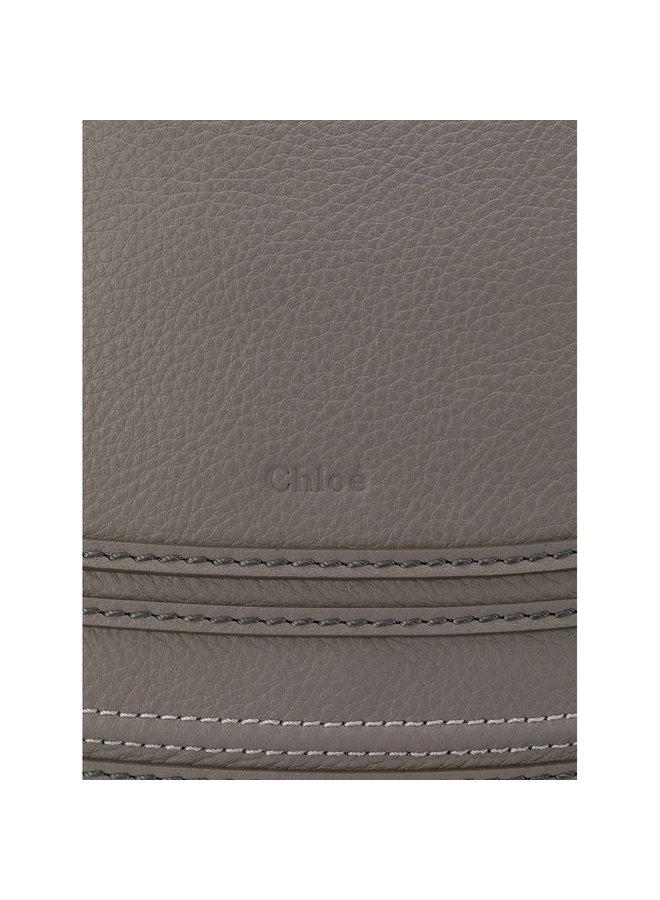 Marcie Medium Shoulder Bag in Leather in Cashmere Grey