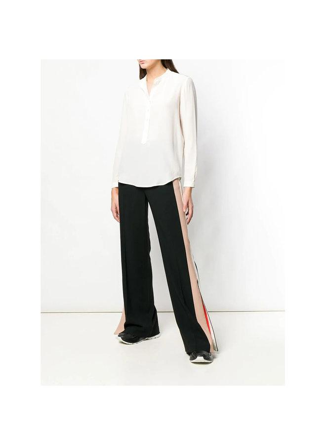Eva Classic Long Sleeve Shirt in Silk in White