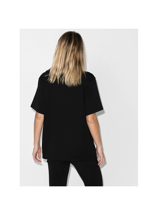 Logo T-shirt in Cotton in Black