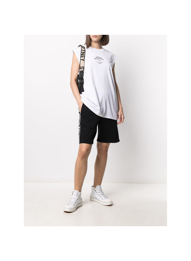 Logo Tank Top in Cotton in White