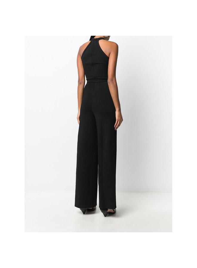 Criss Cross Full Length Jumpsuit in Black