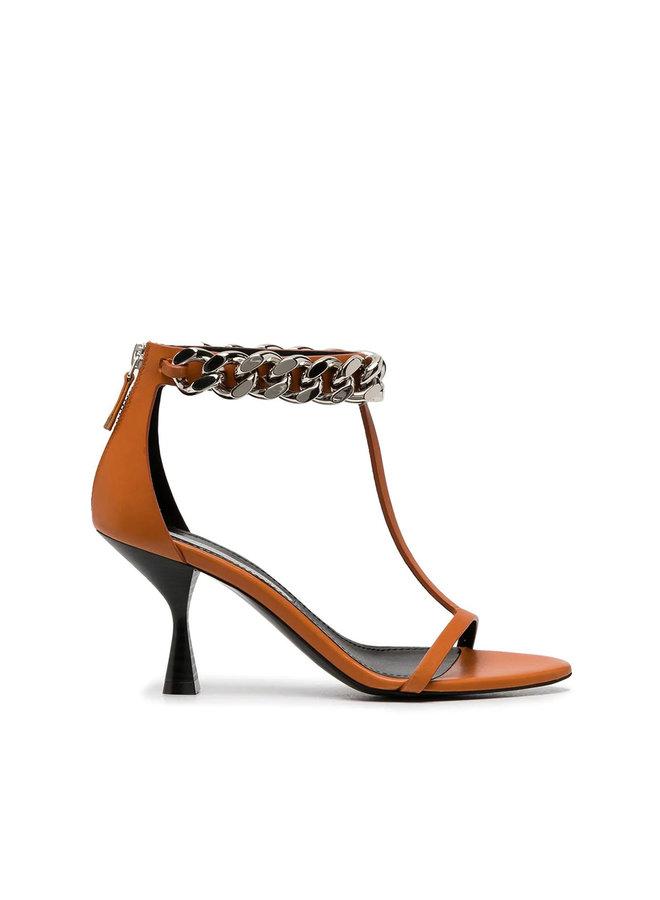 Mid Heel Falabella Chain Sandals