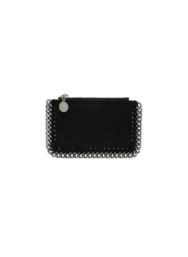 Falabella Zip Card Holder in Black