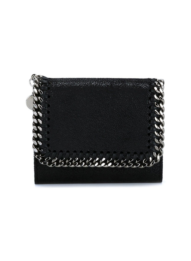 Falabella Small Flap Wallet in Black