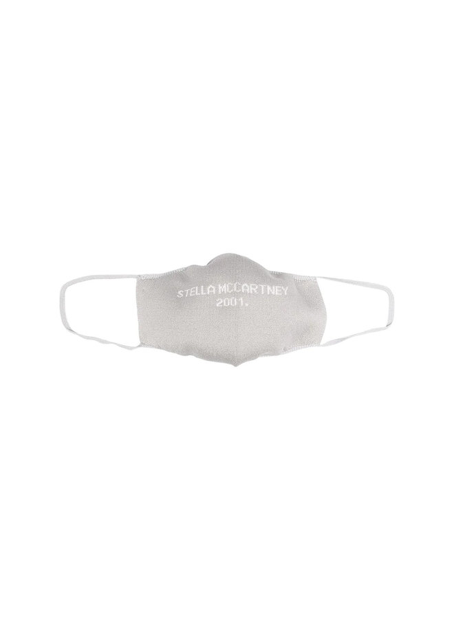 Logo Face Mask in Cotton in Grey