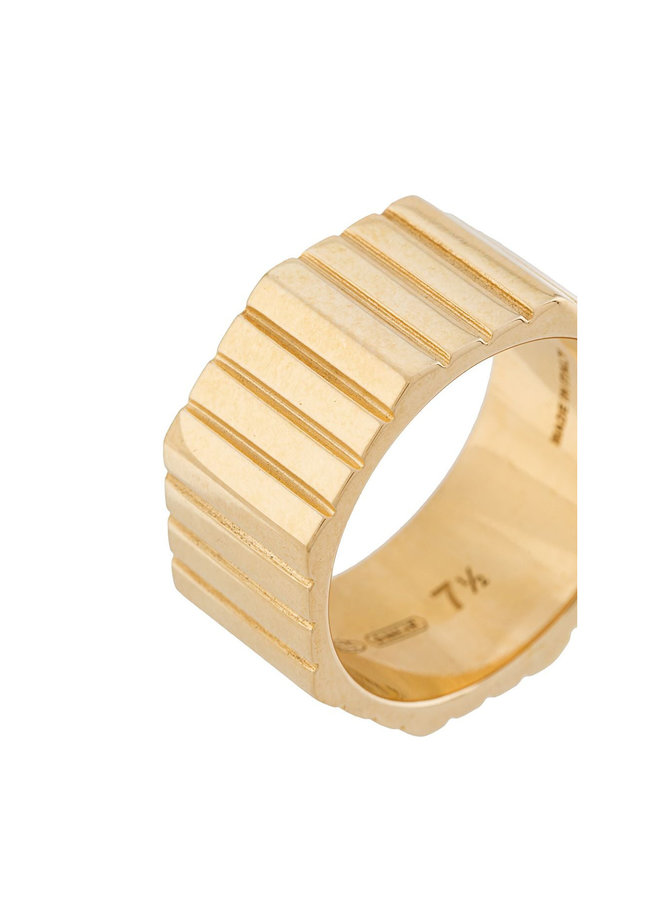 Slot Octagon Ring in Gold