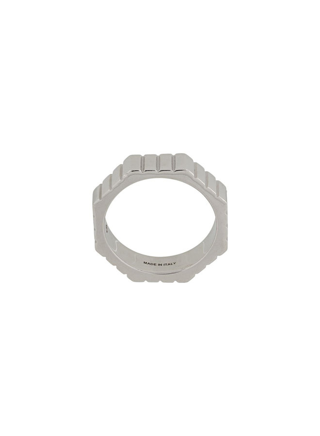 Skinny Slot Octagon Ring