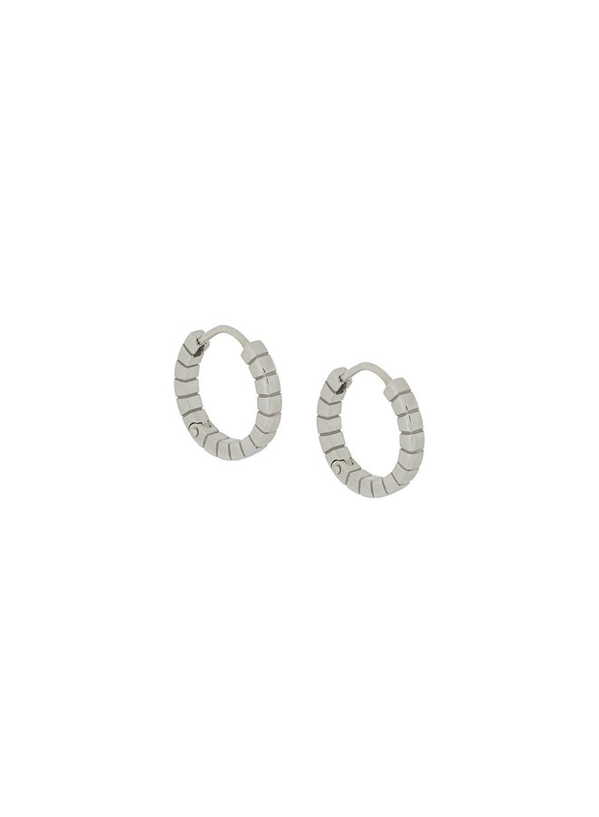 Small Signore Hoops in Silver