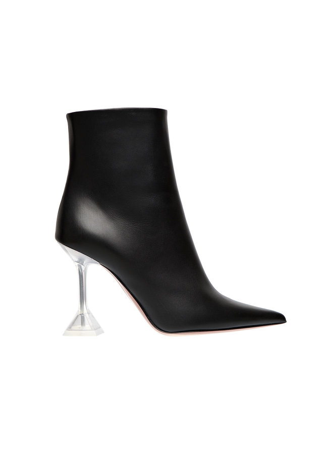 Giorgia Ankle Boot in Leather in Black