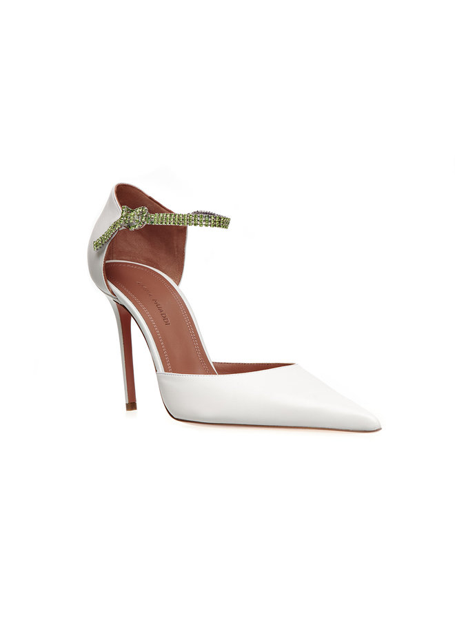Ursina High Heel Pump in Leather in White