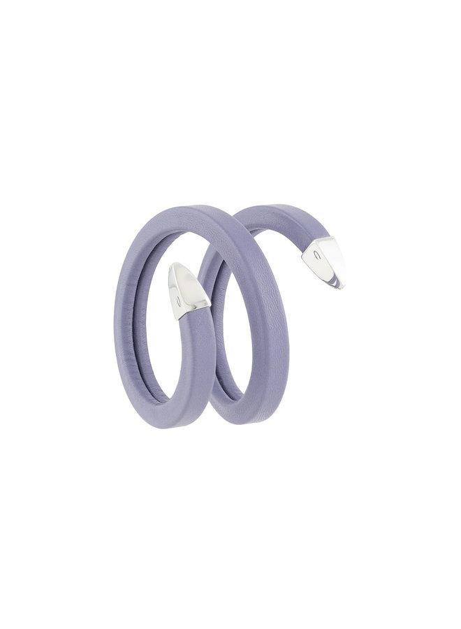 Twist Bracelet in Leather in Lavender